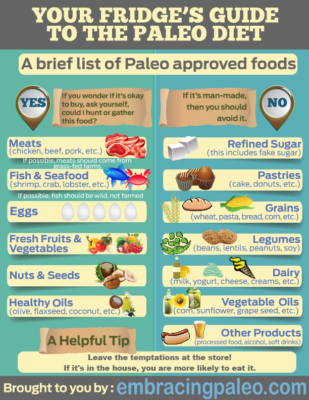 A Brief List of Paleo Approved Foods - Embracing Paleo